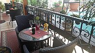 Terrace of Hotel Isabell - new 4 star hotel in Gyor - Hotel Isabell